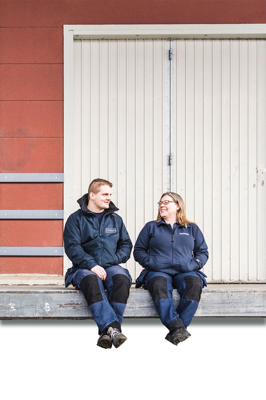 Malin Haraldsson och Anton Drane